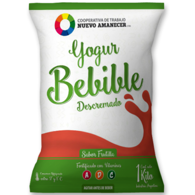 Yogur Bebible Descremado Frutilla